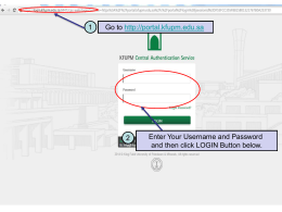 Steps for doing Registration Confirmation thru KFUPM portal
