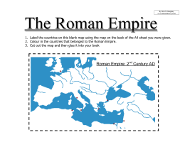 Map of the Roman Empire Worksheet | Year 7 PDF