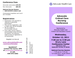 Advocate Critical Care Nursing Conference