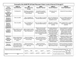 Crosswalk of the ASAM PPC-2R Adult Placement Criteria: Levels of