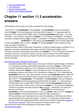 Chapter 11 section 11.3 acceleration answers