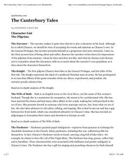The Canterbury Tales | www.sparknotes.com | Readability