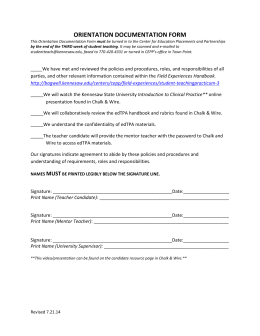 orientation documentation form - Bagwell College of Education at