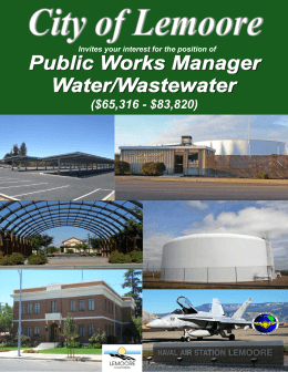 PW Manager Brochure.pub - City of Lemoore Homepage