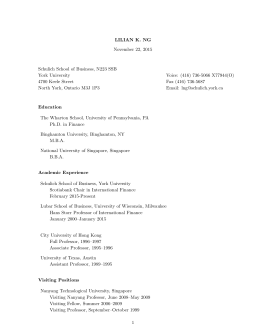 LNg resume_2015Nov - Schulich School of Business