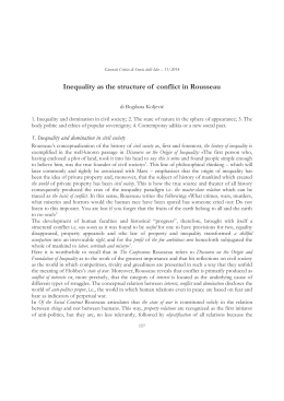 Inequality as the structure of conflict in Rousseau