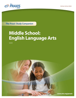 Middle School: English Language Arts