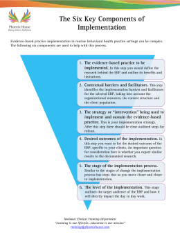 The Six Key Components of Implementation