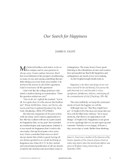 Our Search for Happiness - BYU Speeches