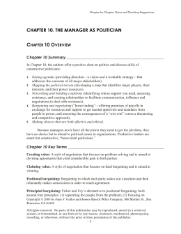 chapter 10. the manager as politician