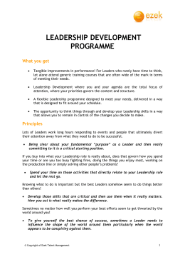 Leadership Development Programme brochure