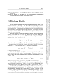 15.5 Nonlinear Models