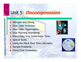 Unit 5: Decompression