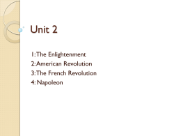 Chapter 5: The Enlightenment and the American Revolution