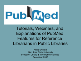 PubMed for Public Librarians