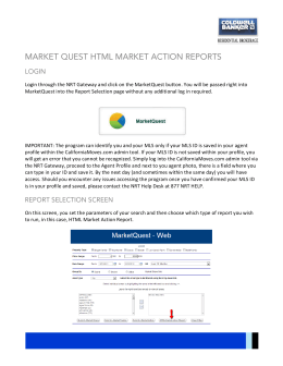 Login through the NRT Gateway and click on the MarketQuest button.