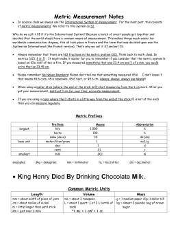 • King Henry Died By Drinking Chocolate Milk.