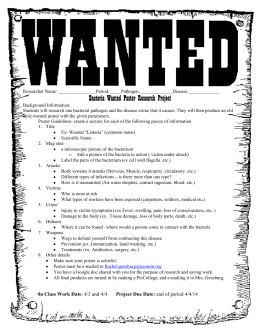 Bacteria Wanted Poster Research Project