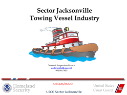 Sector Jacksonville Towing Vessel Industry