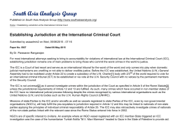 Establishing Jurisdiction at the International Criminal Court