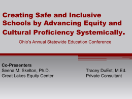 Creating Safe and Inclusive Schools by Advancing Equity and