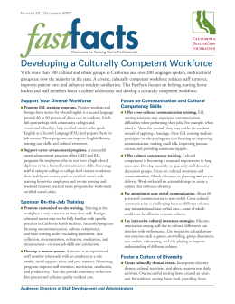 FastFacts: Developing a Culturally Competent Workforce