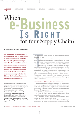 e-Business IS RIGHT - Kellogg School of Management