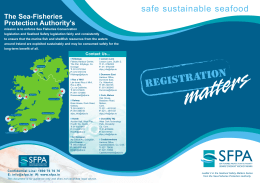 Registration Matters - The Sea-Fisheries Protection Authority