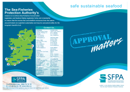 Approval Matters - The Sea-Fisheries Protection Authority