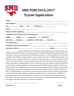 SMU POM 2016-2017 Tryout Application