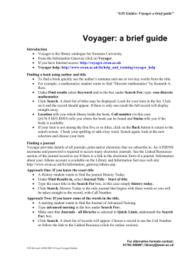 Voyager: a brief guide