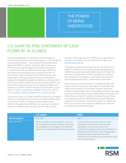 US GAAP vs. IFRS: Statement of cash flows at-a-glance