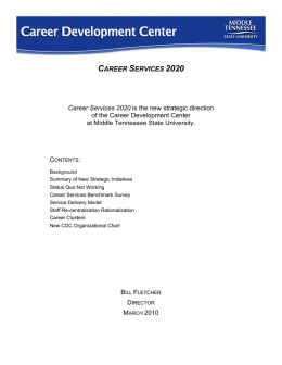 career services 2020 - Middle Tennessee State University