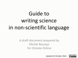 Writing science in non-scientific language