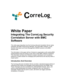 Integrating CorreLog with BMC Software