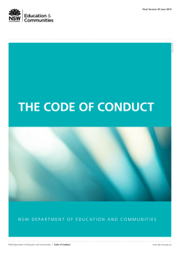 Code of Conduct - NSW Department of Education