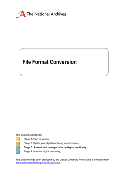 File format conversion - The National Archives