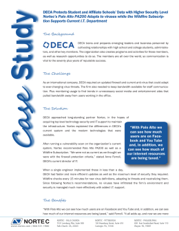 DECA Protects Student and Affiliate Schools` Data with Higher