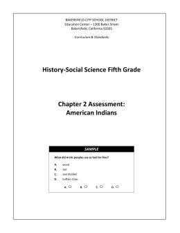 Chapter 2: American Indians - Bakersfield City School District