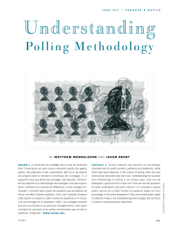 Understanding Polling Methodology