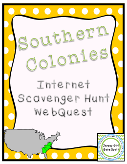 Southern Colonies Scavenger Hunt