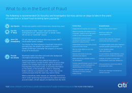 What to do in the Event of Fraud