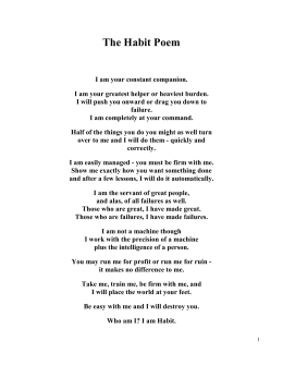 The Habit Poem