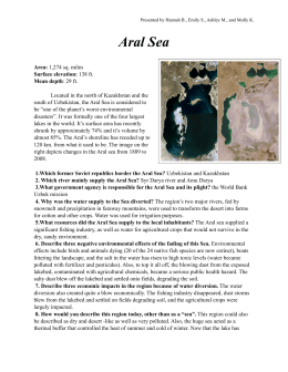 Aral Sea fact sheet