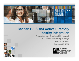 Banner, BEIS and Active Directory Identity Integration