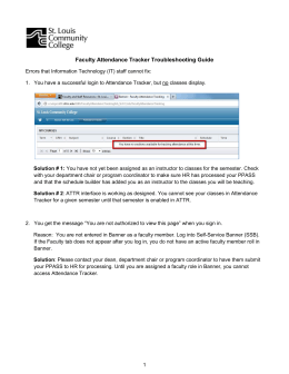 Faculty Attendance Tracker Troubleshooting Guide