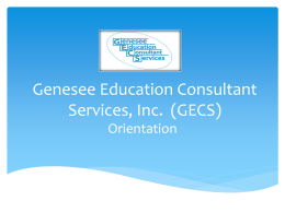 Genesee Education Consultant Services, Inc. (GECS)