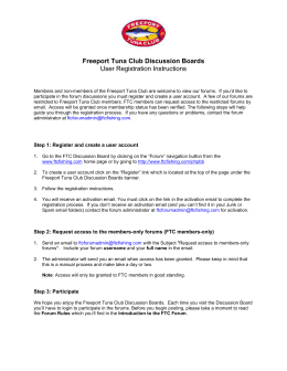 Freeport Tuna Club Discussion Boards User Registration Instructions