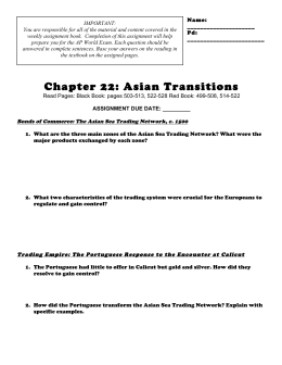 Chapter 22: Asian Transitions