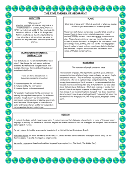 5 Themes of Geography Summary Notes